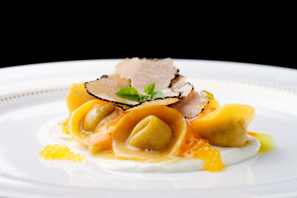 Ravioli with Black Truffle slices