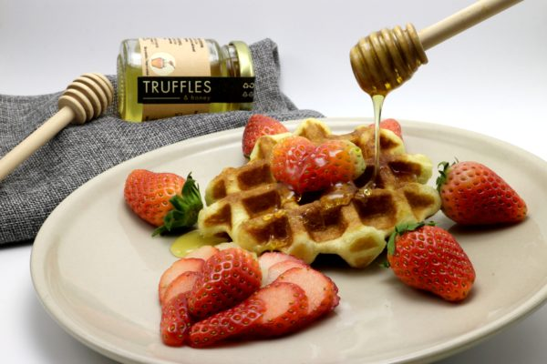 Strawberry White Truffle Honey Waffle