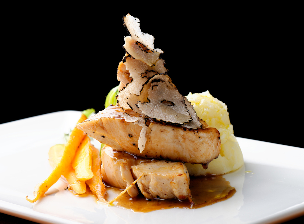 Chicken Fillet with Black Truffle Slices and Boletus